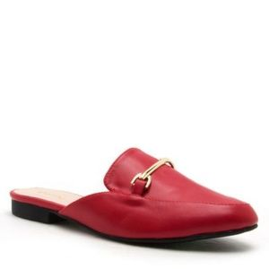 Shoes - Last Pair Moving Sale! Red Mules Size 6.5